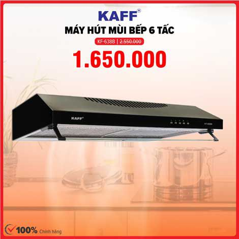 Xả kho máy hút mùi bếp 6 tấc Kaff KF-638B giá 1.650.000đ