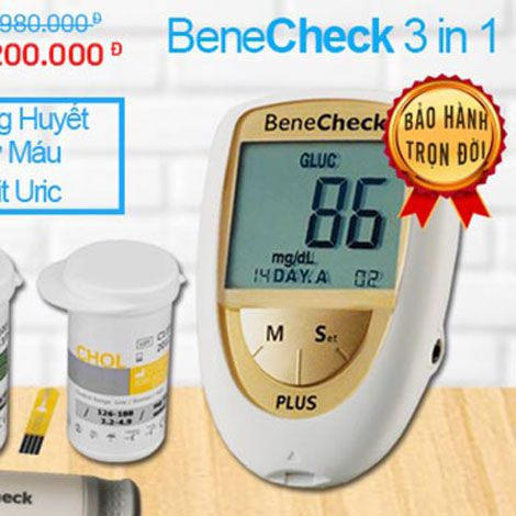 Máy đo đường huyết - mỡ máu - acid uric gút