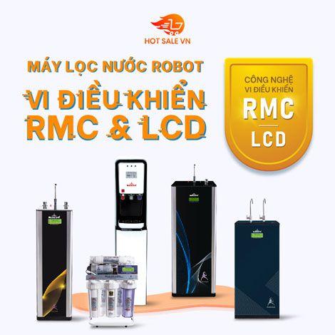 Máy lọc nước ROBOT, vi điều khiển RMC & LCD, nước lọc chuẩn quốc gia