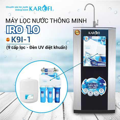 Máy lọc nước RO KAROFI iRO 1.1 K9I-1 (Đèn UV diệt khuẩn)