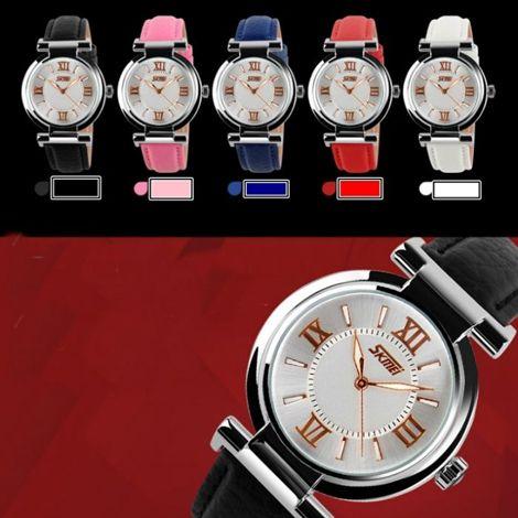 Đồng hồ nữ dây da Skmei chống nước
