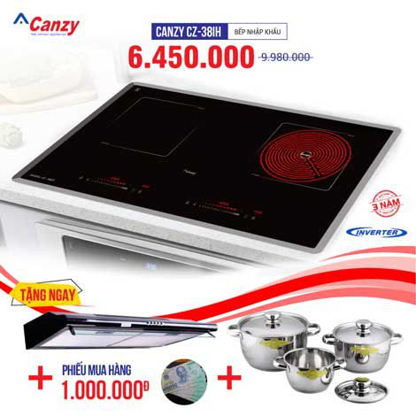 Xả kho bếp từ đôi hồng ngoại CANZY CZ-38IH chỉ từ 3.650.000đ
