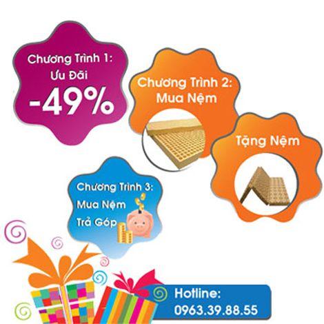 Nệm Hải Triều tri ân giảm đến 49% cùng quà tặng