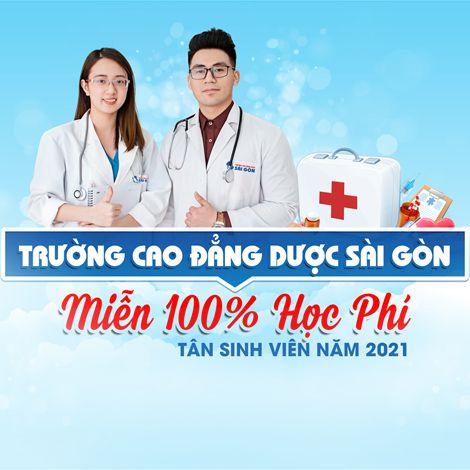 Trường Cao đẳng Dược Sài Gòn miễn 100% học phí tân sinh viên năm 2021
