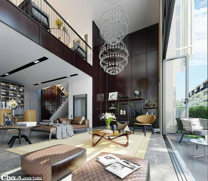 Biệt thự 4 tầng được trang bị thang máy tại Hà Nội