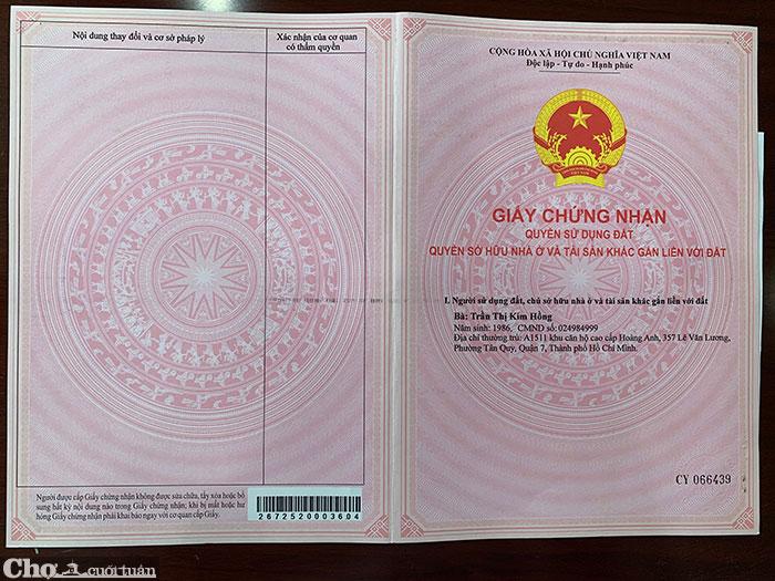 Sang đất thổ cư P.Hắc Dịch, thị xã Phú Mỹ (Bà Rịa Vũng Tàu)