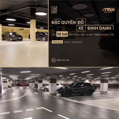 Điểm đỗ xe định danh - Đặc quyền dành riêng cho cư dân VIP