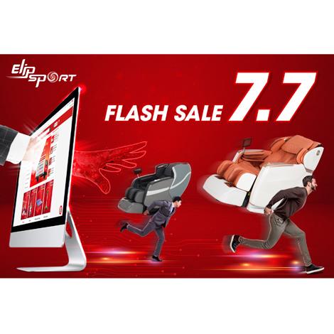 Elipsport sale đến 50% tất cả máy chạy bộ, ghế massage trong ngày 7.7