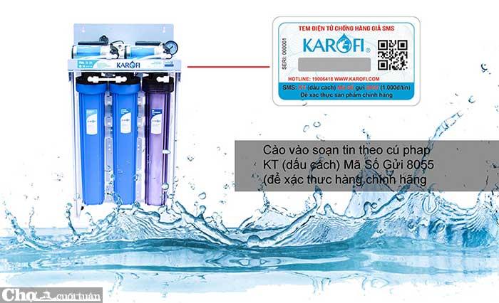 Máy lọc nước RO không tủ bán công nghiệp KAROFI KT-KB50