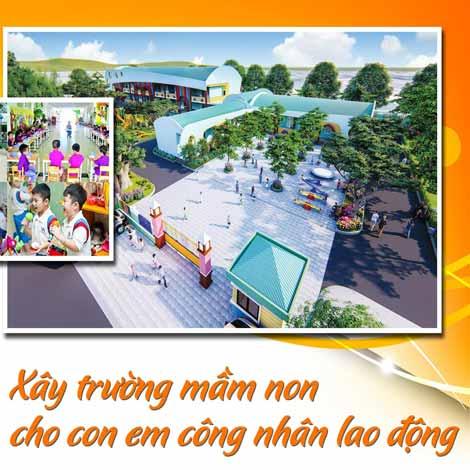 Kim Oanh Group xây trường mầm non cho con em công nhân LĐ