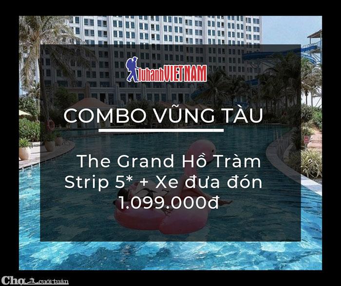 Combo Vũng Tàu 2N1Đ, nghỉ ở The Grand Hồ Tràm Strip 5 sao