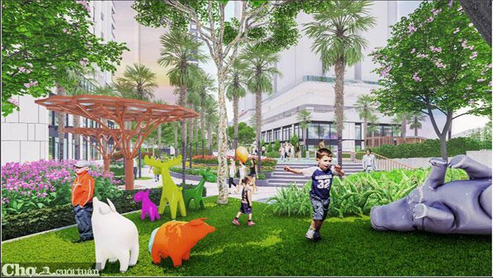 Sắp xuất hiện Tổ hợp công viên giải trí bên hồ tại khu Đông