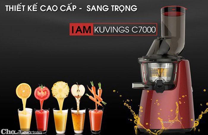 Tiện lợi với máy ép trái cây Kuvings C7000