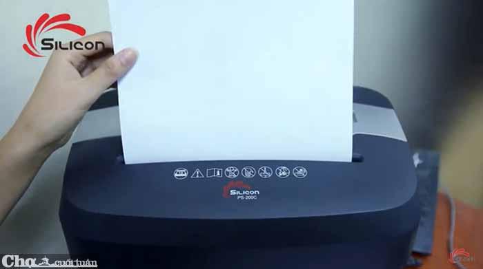 Máy hủy tài liệu Silicon PS-200C