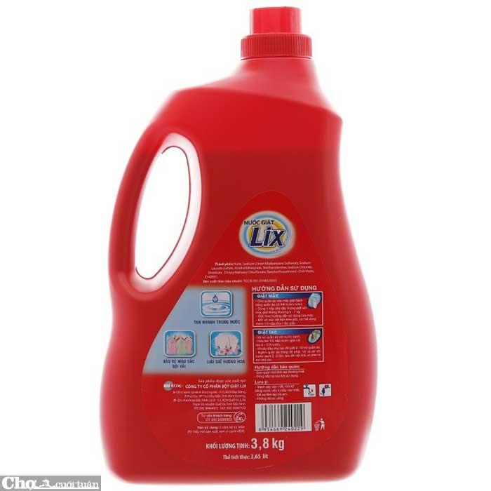 Nước giặt Lix đậm đặc hương hoa 3.8Kg khuyến mãi 85 ngàn