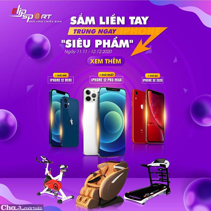 Elipsport - Sắm liền tay - trúng ngay siêu phẩm iPhone 12 PRO MAX