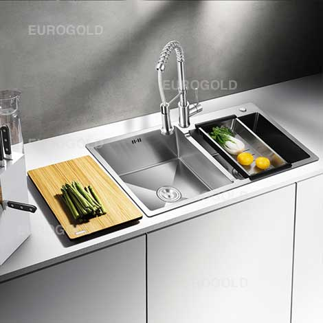 Chậu rửa bát inox 304 Eurogold EUS38245