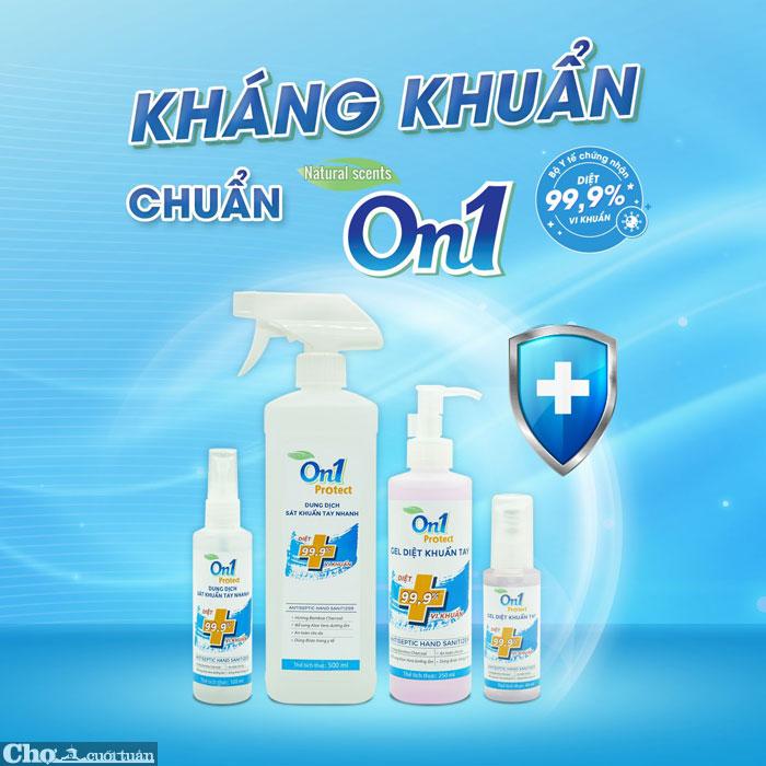 Thùng 48 chai GEL rửa tay khô sát khuẩn nhanh On1, chai nhấn 250ml
