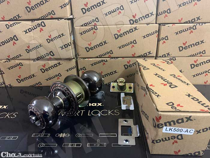 Xả kho khóa tay nắm tròn Demax LK500 AC giá bán 155.000đ