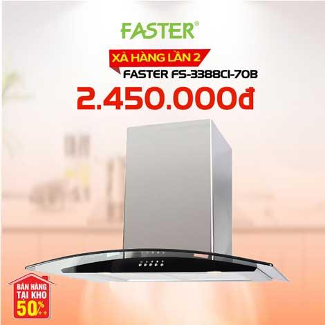 Xả kho máy hút mùi nhà bếp Faster FS-3388C1-70B giá 2.450.000đ