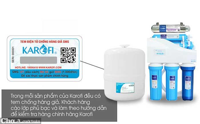 Máy lọc nước RO để gầm, không tủ iRO 1.1 KAROFI KT-K8I-1