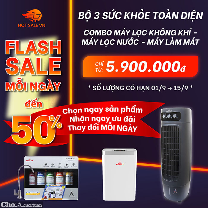 Flash Sale mỗi ngày đến 50%, bộ ba sức khỏe toàn diện chỉ từ 5.900.000Đ